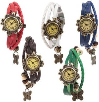 RK Butterfly analog watch combo set of 5 Analog Watch  - For Boys, Girls, Women
