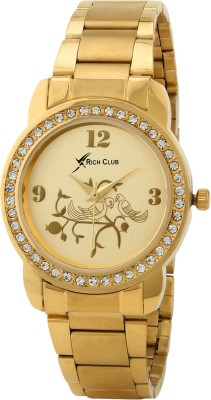 Rich Club RC-1811GLD Golden Birds Analog Watch  - For Girls, Women