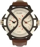 Felizer Brown Strap Dual Time Analog Wat...