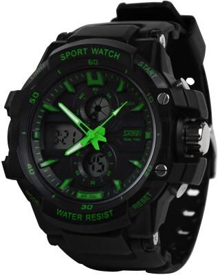Skmei 0990GRN Rugged Analog-Digital Watch - For Men, Boys