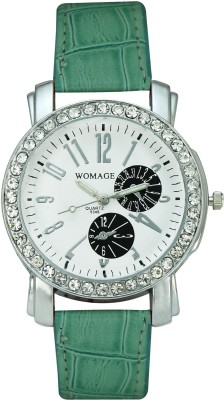 Womage 9346 (W027) Big Dial Analog Watch  - For Women