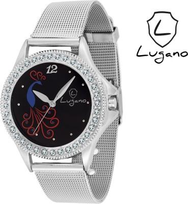 Lugano LG2017DE Sheffer Chain Analog Watch  - For Women, Girls