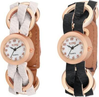 Swisstyle Ladies Combo-SS-1500W-1500B King Analog Watch  - For Women