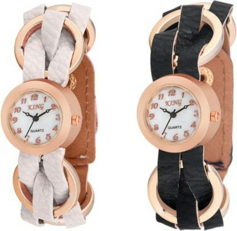 Swisstyle Ladies Combo SS 1500W 1500B King Analog Watch For Wo