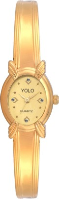 Yolo YLC-043GOLD Analog Watch  - For Girls, Women