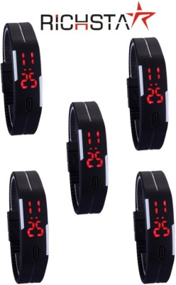 Richstar LED Band05PC5BLK Digital Wrist Band Digital Watch  - For Boys, Couple, Girls, Men, Women