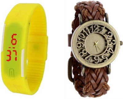 COSMIC LEDW4352 Analog-Digital Watch - For Couple