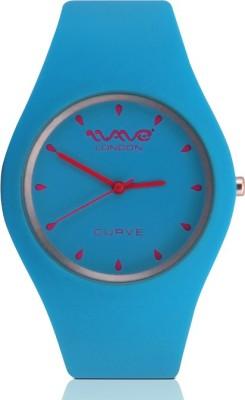 Wave London Wave London Curve Cyan & Pink Watch (Wl-Cur-Cypk) Curve Analog Watch  - For Women