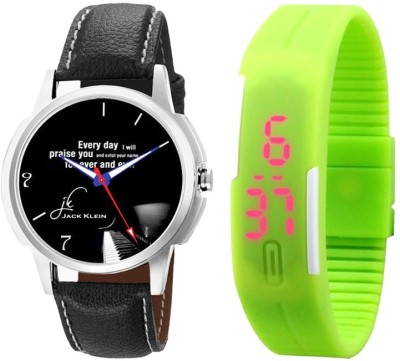 Jack Klein Combo of Graphic 1212 And Green LED Analog-Digital Watch  - For Men, Women