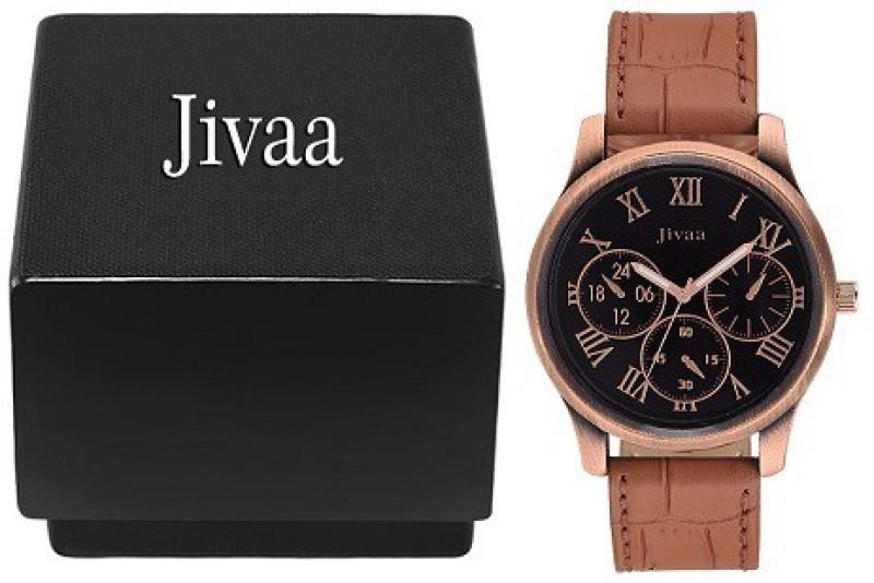 Jivaa Leather Brazen Tier Analog Watch For Men