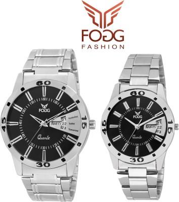 FOGG 5040-BK-CK MODISH Analog Watch  - For Couple