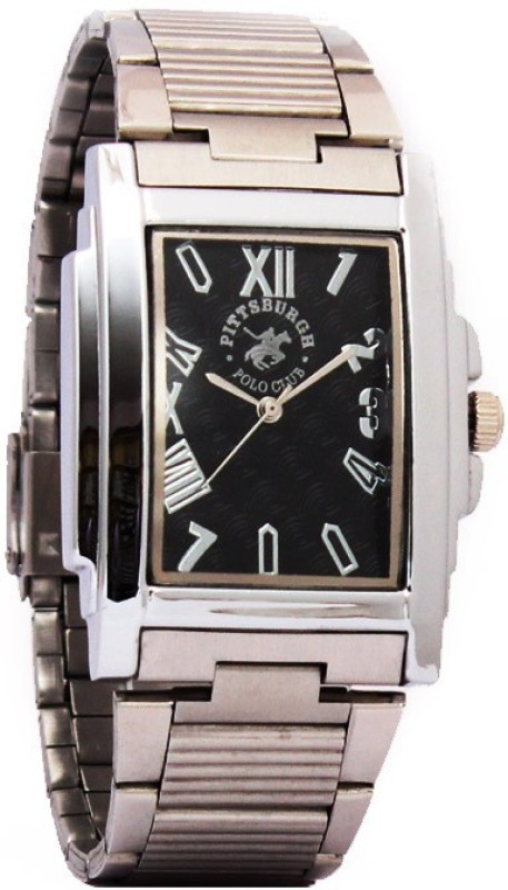 Pittsburgh Polo Club PBPC 440 SS BLK265 Analog Watch For Men
