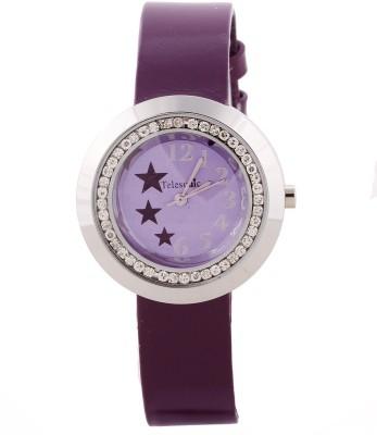 Telesonic TDRS-101 (Purple) Sparkle Star Analog Watch  - For Women