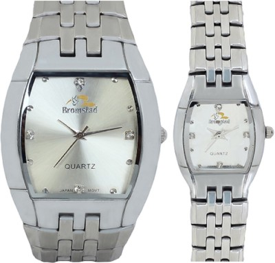 Bromstad 691PW-Silver Pair Analog Watch  - For Couple