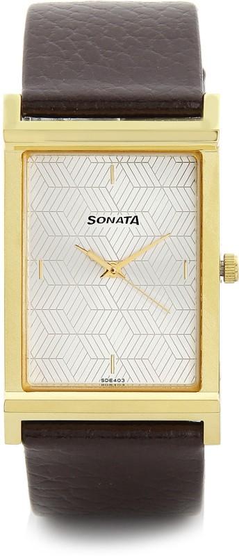 Sonata 77032YL01J Analog Watch For Men
