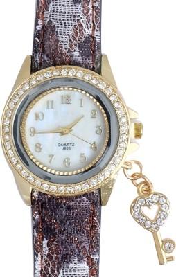 Super Drool ST2461_WT_KEY Crystal Key Charm Analog Watch  - For Girls