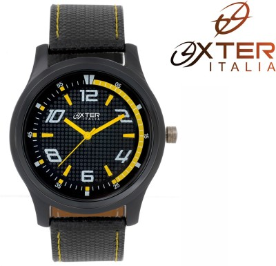 Oxter Fabuleux Black Basic Octane Analog Watch  - For Men, Boys