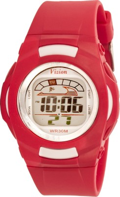 Vizion 8522-1RED Cold Light Digital Watch  - For Boys & Girls