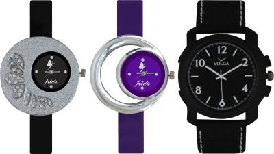 Frida Designer VOLGA Beautiful New Branded Type Watches Men and Women Combo304 VOLGA Band Analog Watch  - For Couple