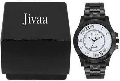 Jivaa JV125 Black Lucid Run Analog Watch  - For Men, Boys