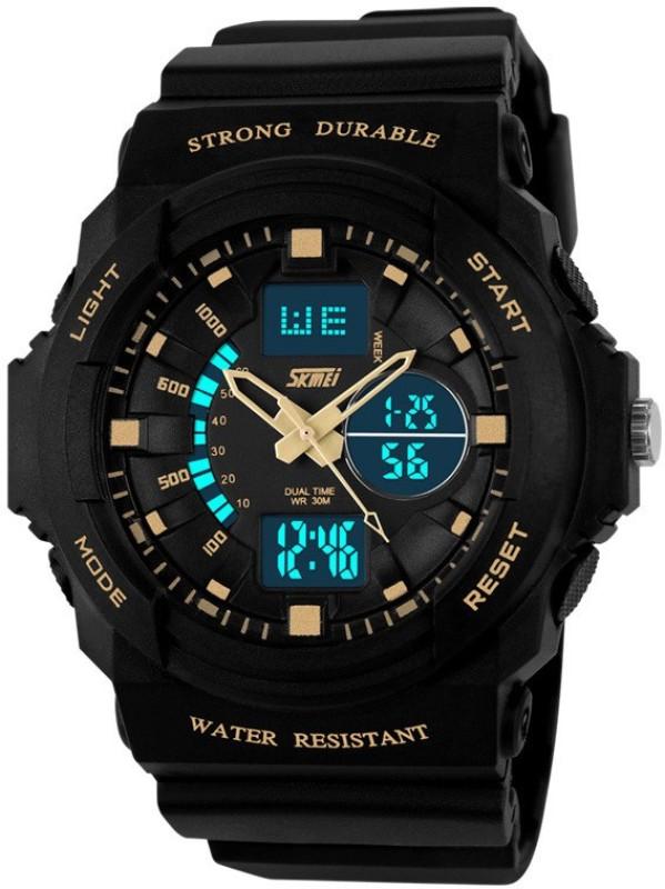 Skmei ADAJ0955 GLD Lcd Analog Digital Watch For Men