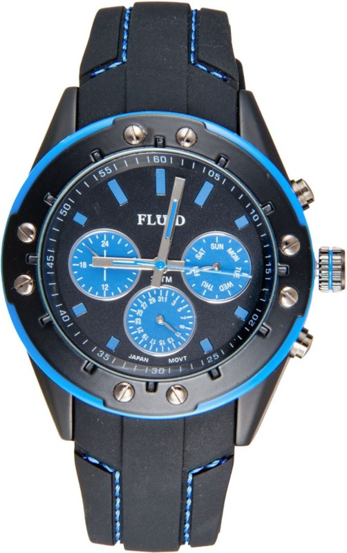 Fluid FL 103 BK BL Analog Watch For Men