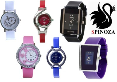 SPINOZA glory peacock multicolor beautiful stylish pack of 6 watches Analog Watch  - For Women