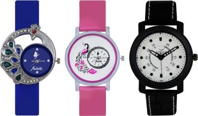 Frida Designer VOLGA Beautiful New Branded Type Watches Men and Women Combo417 VOLGA Band Analog Watch  - For Couple