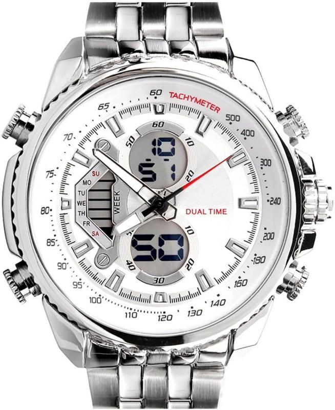 PredictWay 993WHT SKMEI Analog Digital Watch For Men