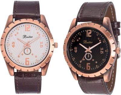 Britex BT6022+BT6016 Garson`S Cotane Combo Analog Watch  - For Men, Boys