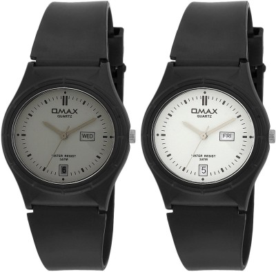 Omax FS142_143_Grey_White Analog Watch  - For Couple