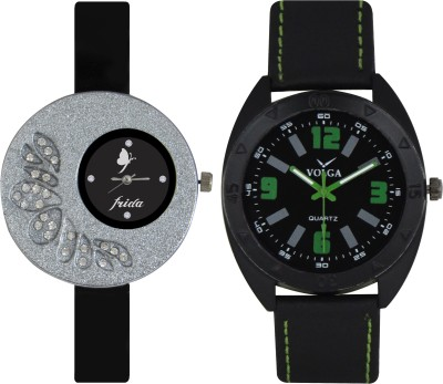 Frida Designer VOLGA Beautiful New Branded Type Watches Men and Women Combo12 VOLGA Band Analog Watch  - For Couple