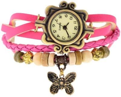 Zillion Vintage Butterfly Charm Bracelet Style Analog Watch  - For Women, Girls
