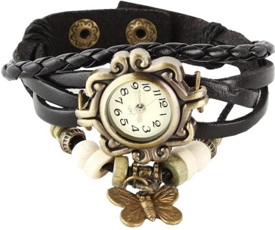 Harikrushna Enterprise Butterfly black Analog Watch  - For Girls, Women