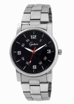 Gesture Gesture Elegant 6008-Bk Watch For Men Elegant Analog Watch  - For Men