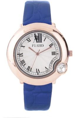 Fluid FL403-BL01 Crystal Diamond Collection Analog Watch  - For Girls, Women