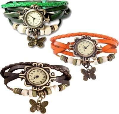Lexin FS4689 Leather Strap, Vintage Watch Analog Watch  - For Girls, Women