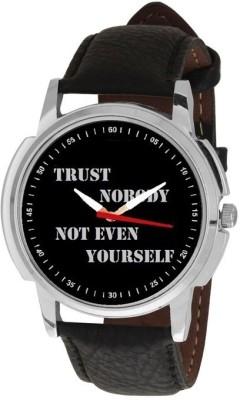 RODEC Black Trust printed slogan Analog Watch  - For Men