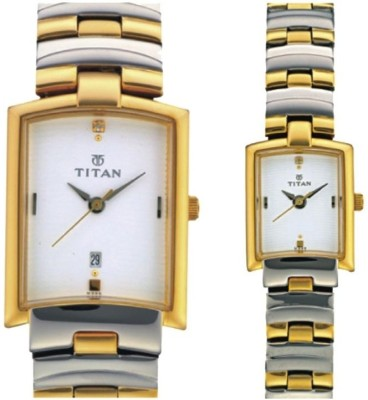 Titan NH19402940BM01 Analog Watch  - For Couple