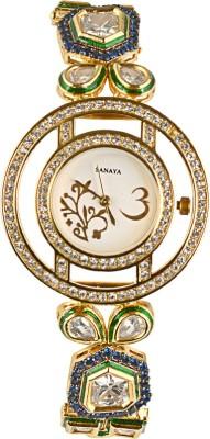 Sanaya Designer Kundan SW39 Analog Watch  - For Women