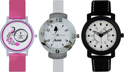 Frida Designer VOLGA Beautiful New Branded Type Watches Men and Women Combo639 VOLGA Band Analog Watch  - For Couple