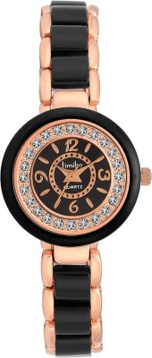 TIMIHO LADIES TM-LR500-BLK-CHN Analog Watch  - For Girls, Women