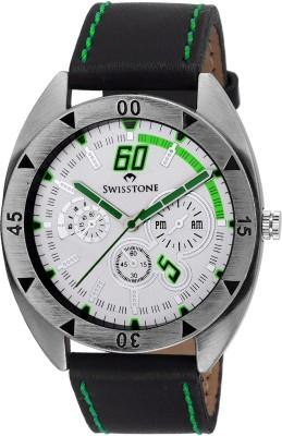 Swisstone FTREK560-WHT-BLK Analog Watch  - For Boys, Men