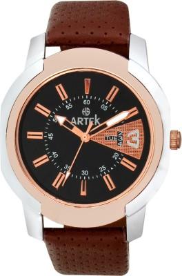 ARTEK -4012-SILVER-COPPER Analog Watch  - For Men
