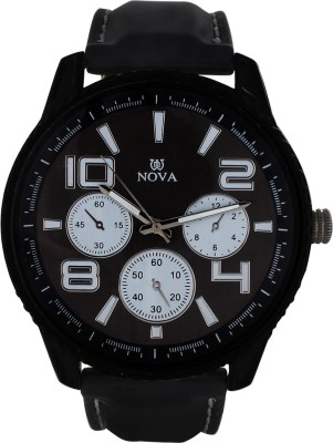 Nova Black 02 Analog Watch  - For Boys, Men
