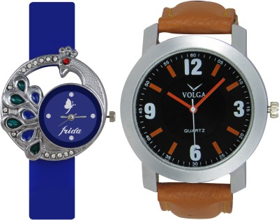 Frida Designer VOLGA Beautiful New Branded Type Watches Men and Women Combo59 VOLGA Band Analog Watch  - For Couple