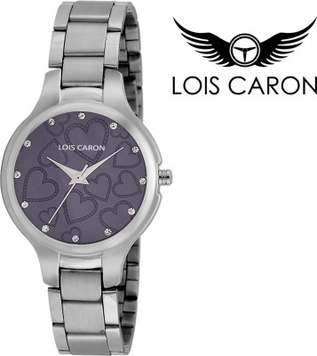 Lois Caron LCS-4517 VIOLET HEART DIAL Analog Watch  - For Girls, Women