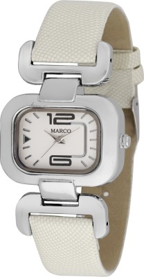 Marco MR-LSQ076-WHT-WHT Marco Analog Watch  - For Women