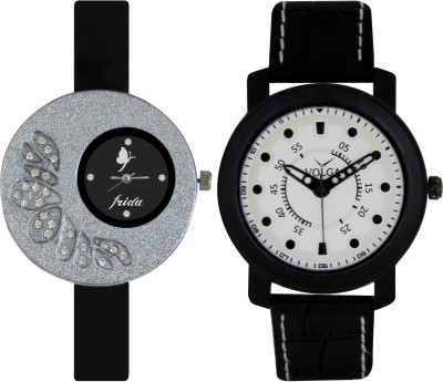 Frida Designer VOLGA Beautiful New Branded Type Watches Men and Women Combo10 VOLGA Band Analog Watch  - For Couple