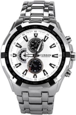 Curren 8023M Formal White Analog Watch  - For Men